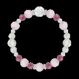 花かずら(8mm)愛情と優しさを育むクンツァイト・ピンクトルマリン・水晶(クォーツ)ブレスレット
