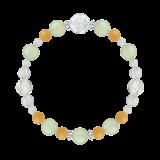 花かずら(8mm)心身の回復力を助けるプレナイト・イエローアベンチュリン・水晶(クォーツ)ブレスレット