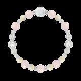 花かずら(8mm)愛情と優しさを授けるローズクォーツ・マザーオブパール・水晶(クォーツ)ブレスレット