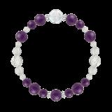 花かずら(8mm)紫色アメジスト・水晶(クォーツ)ブレスレット