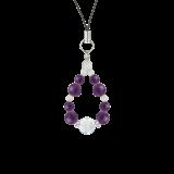 花かずら(8mm)紫色アメジスト・水晶(クォーツ)ストラップ