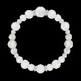 花かずら(8mm)月白色ブルームーンストーン・水晶(クォーツ)ブレスレット