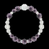 花かずら(8mm)京紫色チャロアイト・水晶(クォーツ)ブレスレット