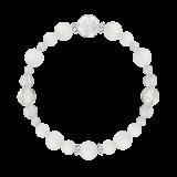 花かずら(8mm)白色フロスティクォーツ・水晶(クォーツ)ブレスレット