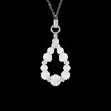 花かずら(8mm)白色フロスティクォーツ・水晶(クォーツ)ストラップ