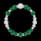 花かずら(8mm)緑色グリーンメノウ・水晶(クォーツ)ブレスレット