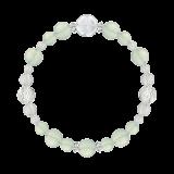 花かずら(8mm)白緑色グリーンアメジスト・水晶(クォーツ)ブレスレット