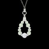 花かずら(8mm)白緑色グリーンアメジスト・水晶(クォーツ)ストラップ