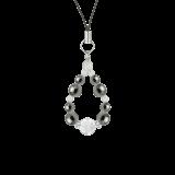 花かずら(8mm)銀鼠色ヘマタイト・水晶(クォーツ)ストラップ