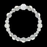 花かずら(8mm)灰白色ハウライト・水晶(クォーツ)ブレスレット