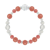 花かずら(8mm)薔薇色インカローズ・水晶(クォーツ)ブレスレット