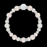 花かずら(8mm)桜色スターローズクォーツ・水晶(クォーツ)ブレスレット
