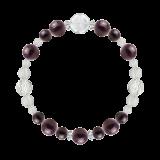 花かずら(8mm)紫紺色スギライト・水晶(クォーツ)ブレスレット