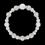 花かずら(8mm)卯の花色ホワイトオニキス・水晶(クォーツ)ブレスレット