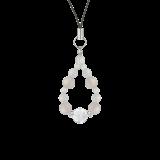 花かずら(8mm)卯の花色ホワイトオニキス・水晶(クォーツ)ストラップ