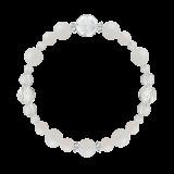 花かずら(8mm)練色ホワイトオパール・水晶(クォーツ)ブレスレット