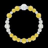 花かずら(8mm)黄色イエローメノウ・水晶(クォーツ)ブレスレット