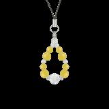 花かずら(8mm)黄色イエローメノウ・水晶(クォーツ)ストラップ