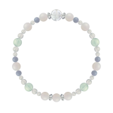 花かずら(6mm)ホワイトオパール・グリーンフローライト・エンジェライト・水晶(クォーツ)「神無月」10月の誕生石ホワイトオパールブレスレット(こよみ月~花かずら6ミリ~)ブレスレット