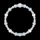 花かずら(6mm)ブルートパーズ・フロスティクォーツ・カット水晶・水晶(クォーツ)「霜月」11月の誕生石ブルートパーズブレスレット(こよみ月~花かずら6ミリ~)ブレスレット