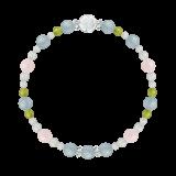 花かずら(6mm)アクアマリン・モルガナイト・ペリドット・水晶(クォーツ)「弥生」3月の誕生石アクアマリンブレスレット(こよみ月~花かずら6ミリ~)ブレスレット