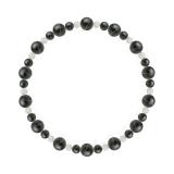 鳳凰(6mm)鉄紺色ブルータイガーアイ・水晶(クォーツ)ブレスレット
