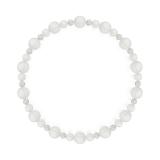 鳳凰(6mm)白色フロスティクォーツ・水晶(クォーツ)ブレスレット
