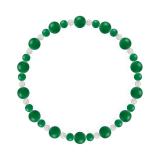 鳳凰(6mm)緑色グリーンメノウ・水晶(クォーツ)ブレスレット