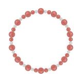 鳳凰(6mm)薔薇色インカローズ・水晶(クォーツ)ブレスレット
