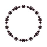 鳳凰(6mm)紫紺色スギライト・水晶(クォーツ)ブレスレット