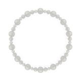 鳳凰(6mm)卯の花色ホワイトオニキス・水晶(クォーツ)ブレスレット