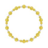 鳳凰(6mm)黄色イエローメノウ・水晶(クォーツ)ブレスレット