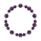 鳳凰(8mm)紫色アメジスト・水晶(クォーツ)ブレスレット
