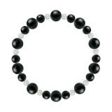鳳凰(8mm)漆黒色ブラックトルマリン・水晶(クォーツ)ブレスレット