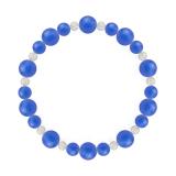 鳳凰(8mm)青色ブルーメノウ・水晶(クォーツ)ブレスレット