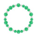 鳳凰(8mm)若緑色クリソプレーズ・水晶(クォーツ)ブレスレット