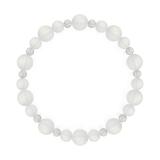 鳳凰(8mm)白色フロスティクォーツ・水晶(クォーツ)ブレスレット