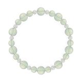 鳳凰(8mm)白緑色グリーンアメジスト・水晶(クォーツ)ブレスレット