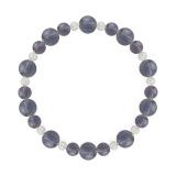 鳳凰(8mm)青褐色アイオライト・水晶(クォーツ)ブレスレット