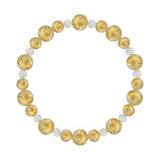 鳳凰(8mm)黄金色ルチルクォーツ・水晶(クォーツ)ブレスレット