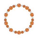 鳳凰(8mm)橙色サードオニキス・水晶(クォーツ)ブレスレット