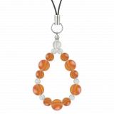 鳳凰(8mm)橙色サードオニキス・水晶(クォーツ)ストラップ
