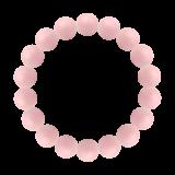 純真(10mm)鴇色ピンクオパールブレスレット