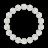 純真(10mm)白露色水晶・クォーツブレスレット