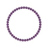 純真(4mm)紫色アメジストブレスレット