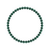 純真(4mm)緑青色アズロマラカイトブレスレット
