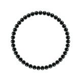 純真(4mm)漆黒色ブラックトルマリンブレスレット