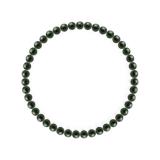 純真(4mm)千歳緑色ブラッドストーンブレスレット