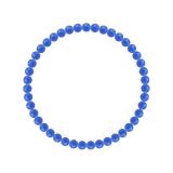 純真(4mm)青色ブルーメノウブレスレット