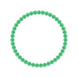 純真(4mm)若緑色クリソプレーズブレスレット